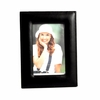 """Stitched  Black Leather Leather Frame 4"""" x 6"""""""