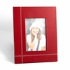 """Stitched Red Leather Picture Frame 4"""" x 6"""""""