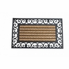 Striped Entry  Mat with Fleur-de-Lis Border