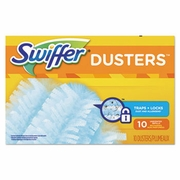 Swiffer Refill Dusters, Dust Lock Fiber, Light Blue, Unscented, 10/Box, 4 Box/Carton