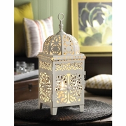"""Table Lamp White Scrollwork  14.5"""" h."""