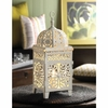 "Table Lamp White Scrollwork  14.5"" h."