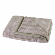 "Taupe Faux Fur Blanket   59"" x 47"""
