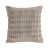 "Taupe Faux Fur Throw Pillow 17.5"" sq."