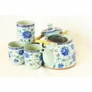 Tea Set Blue Floral  5pc