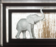 Textured White  Elephant Figurine