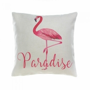 "Flamingo Paradise Throw Pillow   17"" x 17"""