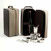 Travel Bar Set 8pc in Ultra Suede Case