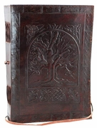 Tree of Life Leather Blank Journal w/cord  7 X 10