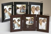 Triple Picture Frame  Wood  4 x 6