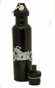 Water Bottle Stainless Steel  Motorcycle Design  with 2 Caps