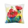 "Watercolor Tulip Throw  Pillow 18"" x 17"""