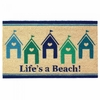 Welcome Mat / Doormat Beach House Life's a Beach!