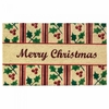 Welcome Mat  Christmas Holly