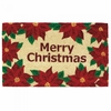 Welcome Mat Christmas Poinsettias