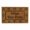Welcome Mat / Doormat  Wipe Your Paws