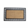 Welcome Mat with Geometric Border