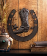 Western Boot Metal Wall Hanging
