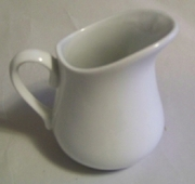 White Procelain Pitcher 8oz