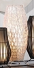 "White Woven Metal Floor Lamp 19""h"