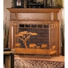 Wild Savannah Fireplace Screen   FREE SHIPPING