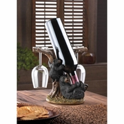 Wine Bottle Holder  Black Bear