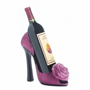Wine Bottle Holder  Pink Rose
