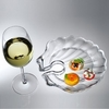 Wine N Dine Shell Shaped Acrylic Party Plates  6/set