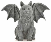 Winged Cat Gargoyle 6-1/2""