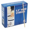 Wood Coffee Stirrers Square Ends (1000/pkg)