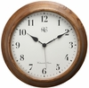 Wood Wall Clock Oak Finish with Chimes  15""