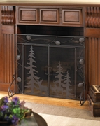 Woodland Wonder Fireplace Screen  FREE SHIPPING