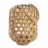 Woven Bamboo Candle Lantern  Large  13""