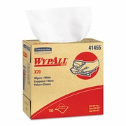 WypAll� X70 Wipers  POP-UP Box, 9 1/10 x 16 4/5, White, 100/Box,10Bx/Case FREE SHIPPING