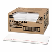 WypAll� X50 Foodservice Wipes 23 1/2 x 12 1/2, White, 200/Carton  FREE SHIPPING
