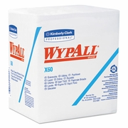 WypAll  X60 HYDROKNIT Wipers Quarterfold, 12 1/2 x 13, White, 76/Box, 12 Boxes/Carton