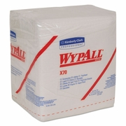 WypAll  X70 Wipers, 1/4-Fold, 12 1/2 x 12, White, 76/Pack, 12 Packs/Carton