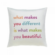 "You Are Beautiful Throw Pillow  17"" x 17"""