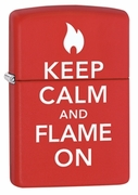 Zippo  Ligher  Keep Calm and Flame On