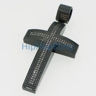1.14ct Real Diamond Cross Black 316L