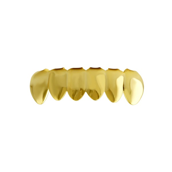 #1 Style Bottom Grille Teeth Gold Tone Grillz - Grillz ...