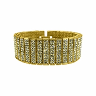 10 Row Gold Bling Bling Bracelet