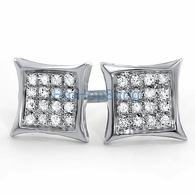 .10ct Diamond Kite Earrings .925 Silver