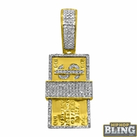 10K Gold Diamond Pendants