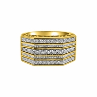 10K Gold Diamond Rings