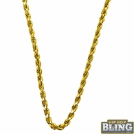 10K Yellow Gold Diamond Cut 2.5MM French Rope Chain