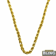 10K Yellow Gold Diamond Cut 3.5MM French Rope Chain