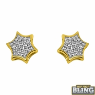 10K Yellow Gold Super Star Earrings .08 Carats