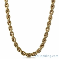 10MM Thick Gold Plated Rope Chain