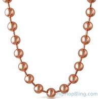 12MM Bead Chain Rose Gold Necklace